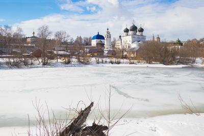 Ежовское озеро Весна апрель Трифонов монастырь Ежовское озеро Киров