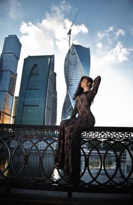 Beauty and the Towers девушка красота модель город Москва гламур