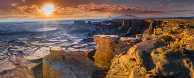Лунный пейзаж moonscape overlook utah usa america southwest desert arid adventure