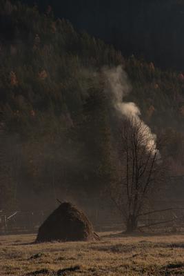 Утро. Кубайка Хакасия, саяны, деревня Кубайка, в которой нет электричества