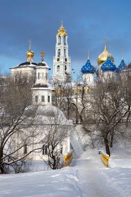 Зимняя Лавра Свято-Троицкая Сергиева Лавра Монастырь Православие