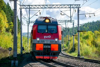 3ЭС5К-1052 railway железная дорога locomotive локомотив электровоз поезд train Russia Siberia Irkutsk Россия Сибирь Иркутск споттинг spotting