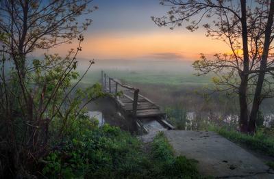 На той стороне... утро весна туман река Sony A7R