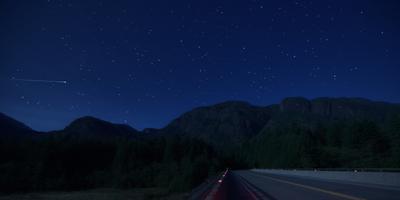 О тех, кто ночью в пути ночь шоссе горы самолет звезды лес