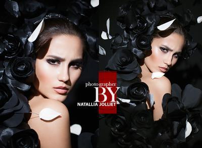 Black swan beauty portrait face lips model hair make-up fashion fresh glamour style mode black swan