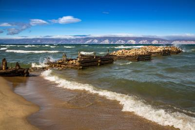 Песчаная бухта Байкал Ольхон сентябрь 2017 года