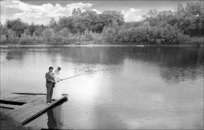 БРАЧНОЕ УТРО рыбалка свадьба речка природа