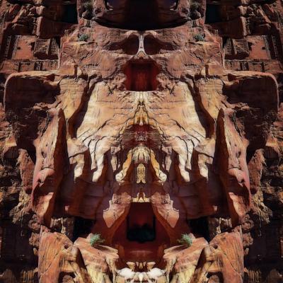 горная фантазия симметрия зеркальное отражение скала фантазия symmetry mirror rock fantasy