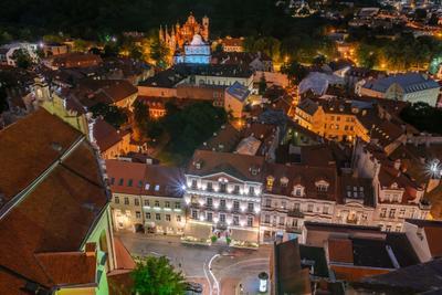 Крыши старого города Вильнюс cтарый город