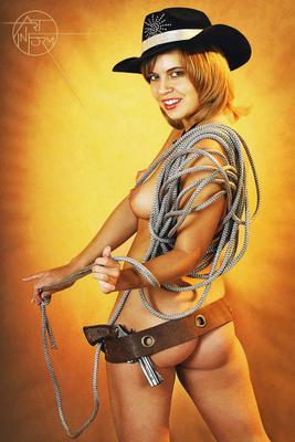 Lasso Art-in-Form Nude Girl Model Vegas СowGirl