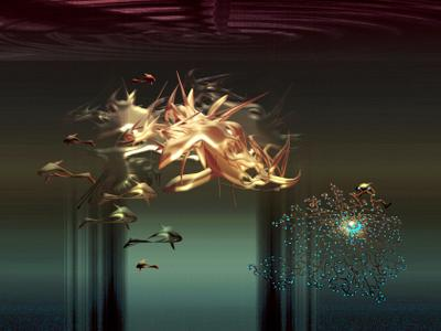 Подводный мир / Завтрак медузы. Art Deko Fantasy.Computer.19.04.2021