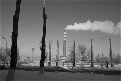 *** город труба дым