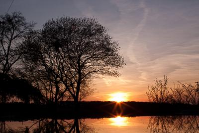 закат закат весна отражение природа