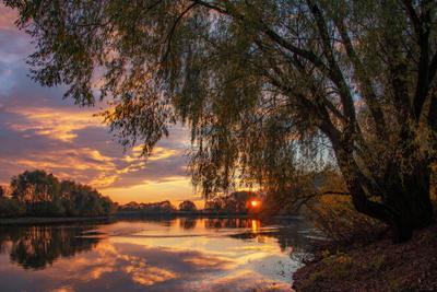 Осенний вечер на Десне