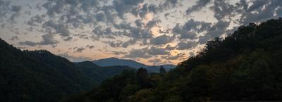 Как просыпаются горы 2 Кавказ Сочи горы пейзаж рассвет Зубова щель ущелье