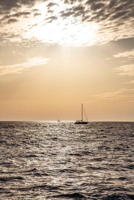 Черноморский закат Закат парусник Черное море