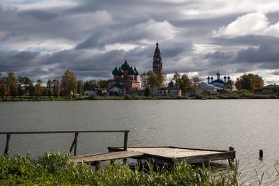 Село Великое Село Великое Ярославская область осень облака церкви