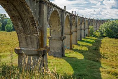 Мокринский железнодорожный мост пейзаж лето чувашия мокры мост виадук