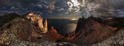 Конрасты Карадага Крым прогулка Карадаг горы