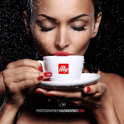 illy aqua studio, Казановский Андрей, Днепропетровск, чашка, губы, вода,