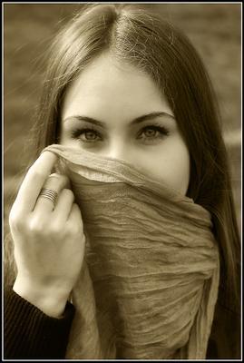 *** девушка, глаза