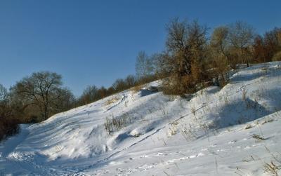 Снежный склон.