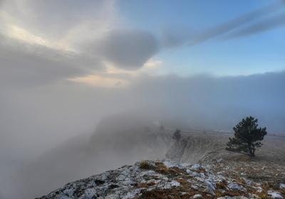 утро утро Крым Ай-Петри небо облака
