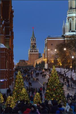 Москва новогодняя (15) Новый год Рождество Москва город