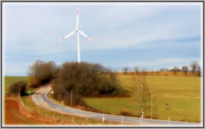 По дороге с ветряками.. германия