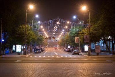 *** город ночь улица