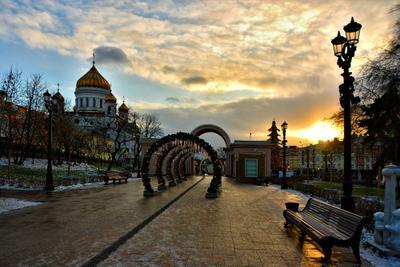 Утро Москвы утро город москва солнце храм