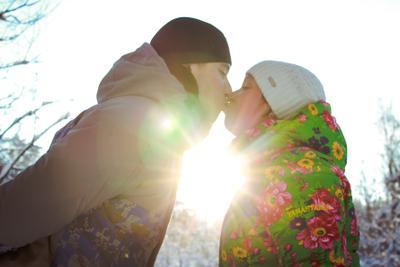 Поцелуй Поцелуй солнце мороз