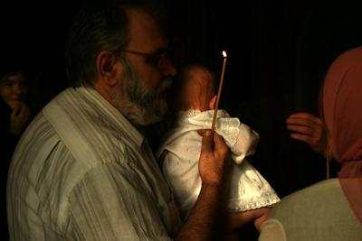 Представление  крестины свеча представление