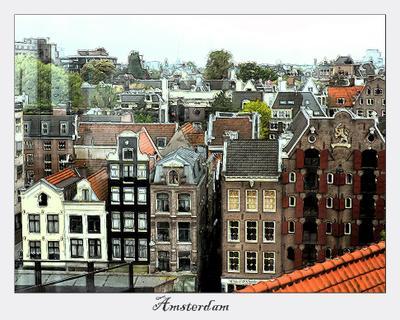 Там, где живет Карлсон (3) Крыша, Карлсон, Амстердам, Голландия, Нидерланды
