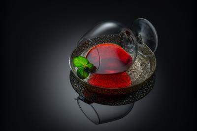 Red&Green Натюрморт бокал стекло арт