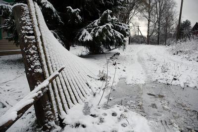 Про электрификацию всей страны... снег забор улица