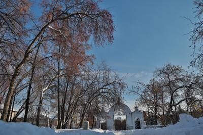 Тайна Кыштыма Демидовская усадьба город Кыштым врата липы зима