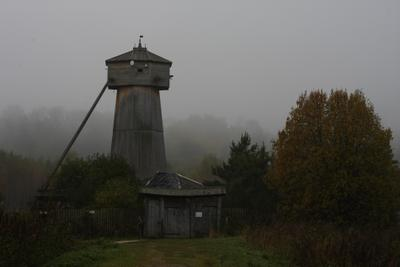 Старая мельница мельница туман утро