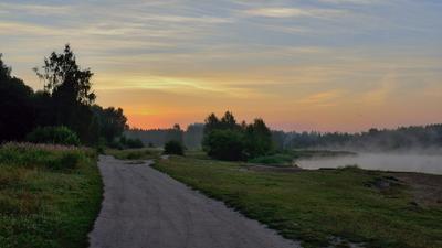 В ожидании восхода утро озеро восход лето