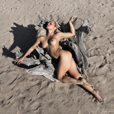 Чужой или сладкие объятья монстра ... фото цвет ню девушка дреды песок дерево монстр