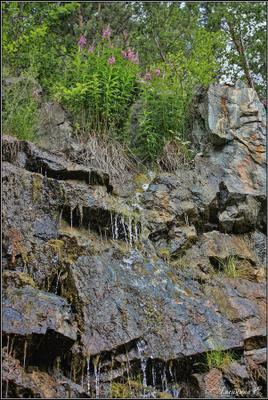 Водопадик (фото №1) Старая линза, Шабры, карьер, водопад