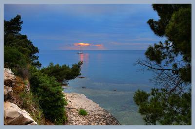 Вечерний покой закат море адриатика