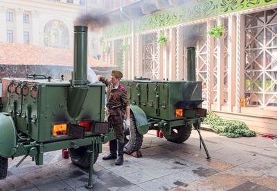 Армейский кашевар Каша солдат Москва 9 Мая kg58