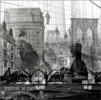 Пересечение времен город Нью-Йорк США NYC небоскребы