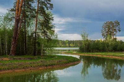 *** природа пейзаж весна вечер протока лебяжьи озера татарстан