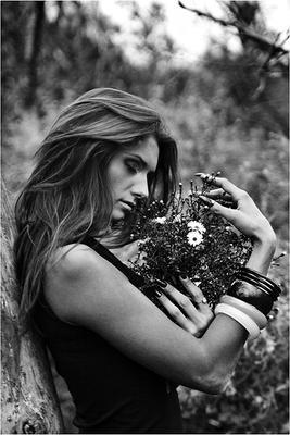 *** девушка цветы настроение чувства