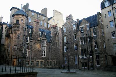 Человек и собака Эдинбург Шотландия