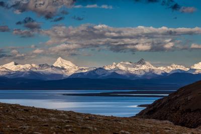 Небесное озеро Тибет Пейзаж горы Гималаи Намцо озеро