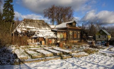 В деревню пришла зима