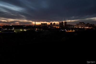 Закат с крана кран город руф крыша
